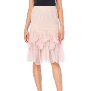 ENGLISH FACTORY | Tiered Tulle Midi Skirt Pink NWT
